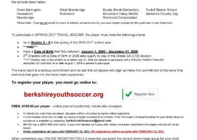 Travel League Soccer Registration